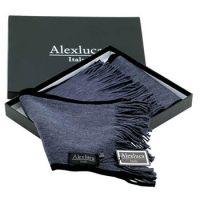 Bufanda promocional gris con negro