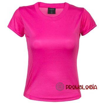 Camiseta técnica poliéster de mujer para publicidad