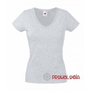 Camisetas cuello V personalizadas de mujer para publicidad