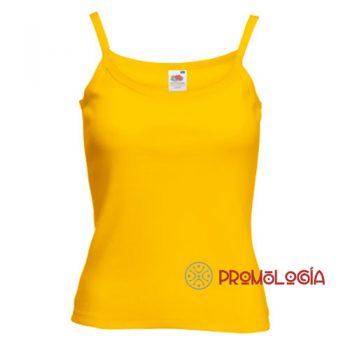 Camiseta tirantes personalizadas de mujer para publicidad
