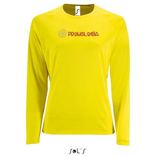 Camiseta deportiva transpirable de manga larga.